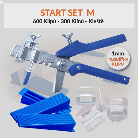 Nivelační startovací set Eko M 1 mm, 1 kus