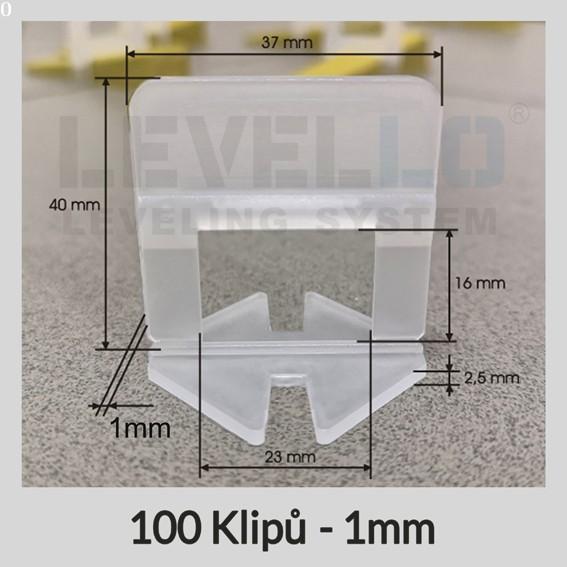 Nivelační klipy Klasik 1 mm, 100 kusů